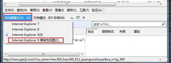 浏览器兼容性设置